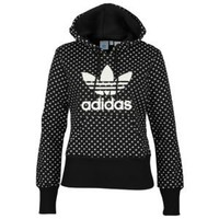 adidas Trefoil Lips Pullover Hoodie - Women's at Foot Locker