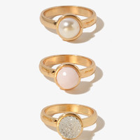 Ball Bead Ring Set | FOREVER 21 - 1040495811