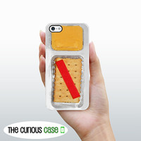 iPhone 5 Case Cheese and Crackers  / Hard Case For iPhone 5 Cheese Cracker Snack. Plastic or Rubber Trim