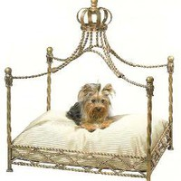 The Well Appointed House by Melissa Hawks. Iron Crown Canopy Dog Bed