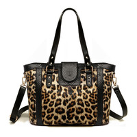 Leopard Print 3-ways Bag