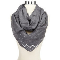 Pyramid Stud Infinity Scarf: Charlotte Russe