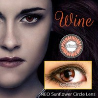 Bella Twilight Vampire Colored Contacts Circle Lenses - NEO Sunflower Hazel (Wine) | EyeCandy's