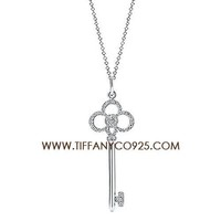 Shopping Cheap Tiffany Keys Crown Key Pendant Necklace with Diamonds At Tiffanyco925.com - Discount Tiffany Necklaces