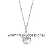 Shopping Cheap Tiffany and Co Handbag Charm with Diamond finish Silver Necklace At Tiffanyco925.com - Discount Tiffany Necklaces