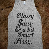 Classy Sassy And A Bit Smart Assy (Tank) - The Coffee Shop - Skreened T-shirts, Organic Shirts, Hoodies, Kids Tees, Baby One-Pieces and Tote Bags