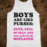 Boys Are Like Purses - Text First - Skreened T-shirts, Organic Shirts, Hoodies, Kids Tees, Baby One-Pieces and Tote Bags