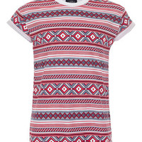 TRIBAL TILE ROLL UP T-SHIRT - Mens T-shirts & Tank Tops  - Clothing