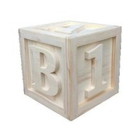 Amazon.com: 10x10x10 Large Wooden Block ABC 123: Camera &amp; Photo