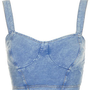 Denim Bralet Top