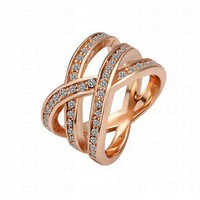 Diamond Knot Gilded Ring - Diamond Rings - Rings - Jewelry