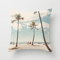 Beach Pillow cover - 16x16 pillow case - beach accent pillow case - hawaii home decor - hawaii throw pillow - girly pillow case - dorm room