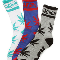 DGK The Stay Smokin 3 Crew Socks in White Royal Athletic Heather : Karmaloop.com - Global Concrete Culture