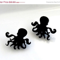 ON SALE 20% off Baronyka Little Sweet Octopus Stud Earrings