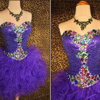 Sweetheart Dream Purple Ball gown prom dress/homecoming dress