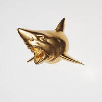 The Bartholomew | Shark Head | Faux Taxidermy | Gold Resin