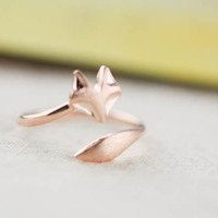 fox ring in gold / silver / rose gold