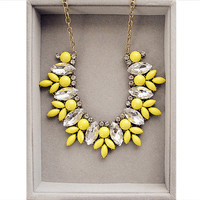 Lemon Yellow Necklace J Crew Inspired
