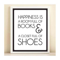 Books and Shoes print poster