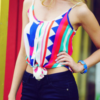 Oh My Mayan Crop Top: Multi | Hope's