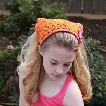 kerchief orange and pink summer fashion from forever andrea