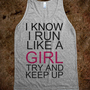 Run like a girl - Hipster Apparel - Skreened T-shirts, Organic Shirts, Hoodies, Kids Tees, Baby One-Pieces and Tote Bags