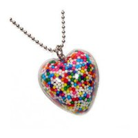 Super Sprinkles Heart Necklace
