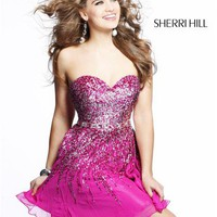 Sherri Hill Short Dress8413 at Prom Dress Shop