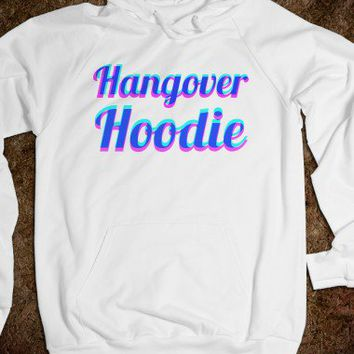 Hangover Hoodie (pink and blue)
