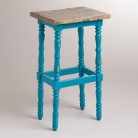 Pagoda Blue Penelope Spindle Stool