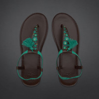 Pretty Embroidered Flip Flops