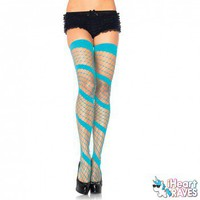 Swirl Diamond Net Thigh Highs