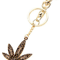 *Accessories Boutique The Leopard Pot Leaf Keychain in Gold : Karmaloop.com - Global Concrete Culture