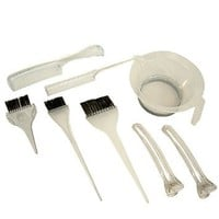 The Invisibles 8 pcs Cosmetology Hair Coloring Tint & Brush Kit