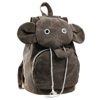 Cyte Elephant Canvas Brown Backpack