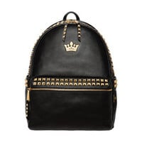 Rock Studed Crown Backpack  Faboutique
