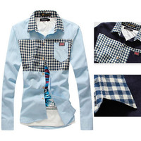 England Fashion New Style Plaid Shirt