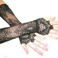 The NEW MOON black french lace cuffs