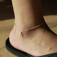 accessoryinlove  925 Silver Cross Anklet