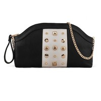 Punk Studded Color Block Shoulder Bag - OASAP.com