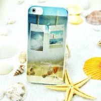 Vivid 3D Water-drop Ocean Star Case For iPhone 5