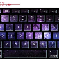 ON SALE Nebula stickers  keyboard decal MacBook decal MacBook air sticker MacBook pro decal J-012