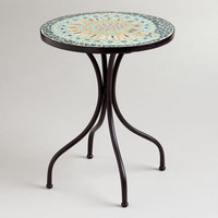Shell Cadiz Mosaic Accent Table - World Market