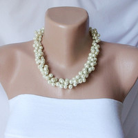 Bridal Pearl handmade necklace