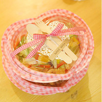 Food container lunch box heart 5 set