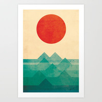 The ocean, the sea, the wave Art Print by Budi Satria Kwan
