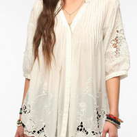 Hazel Pleated Eyelet Tunic