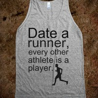 Date a Runner-Unisex Athletic Grey Tank