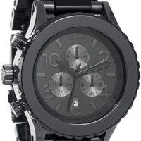 Nixon 42-20 Chrono Gunmetal Black Acetate Watch - Free Shipping