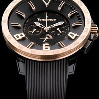 Tendence Gulliver Sport Black/Rose Gold Chronograph - Cool Watches from Watchismo.com